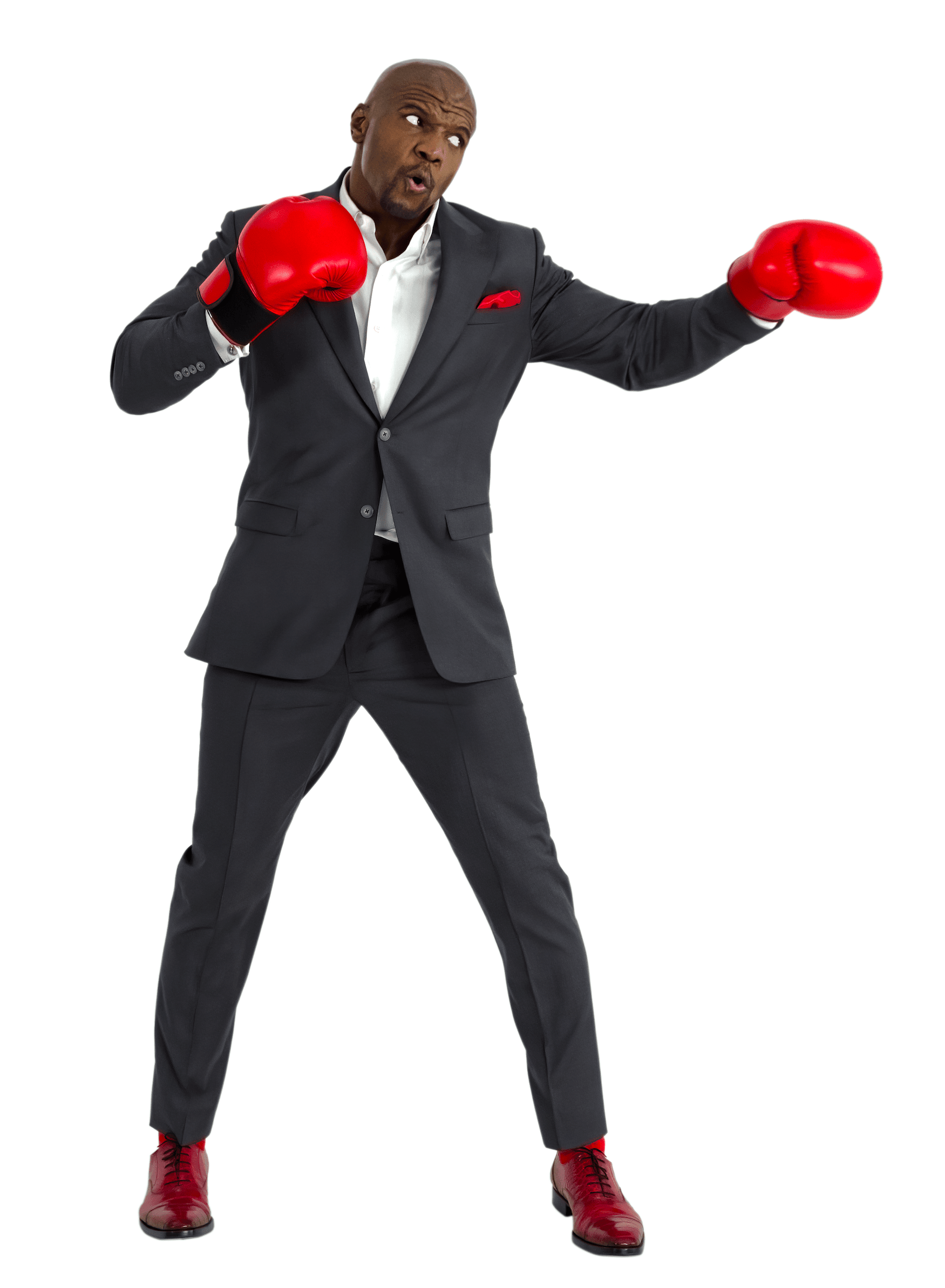 Terry Crews with boxing gloves