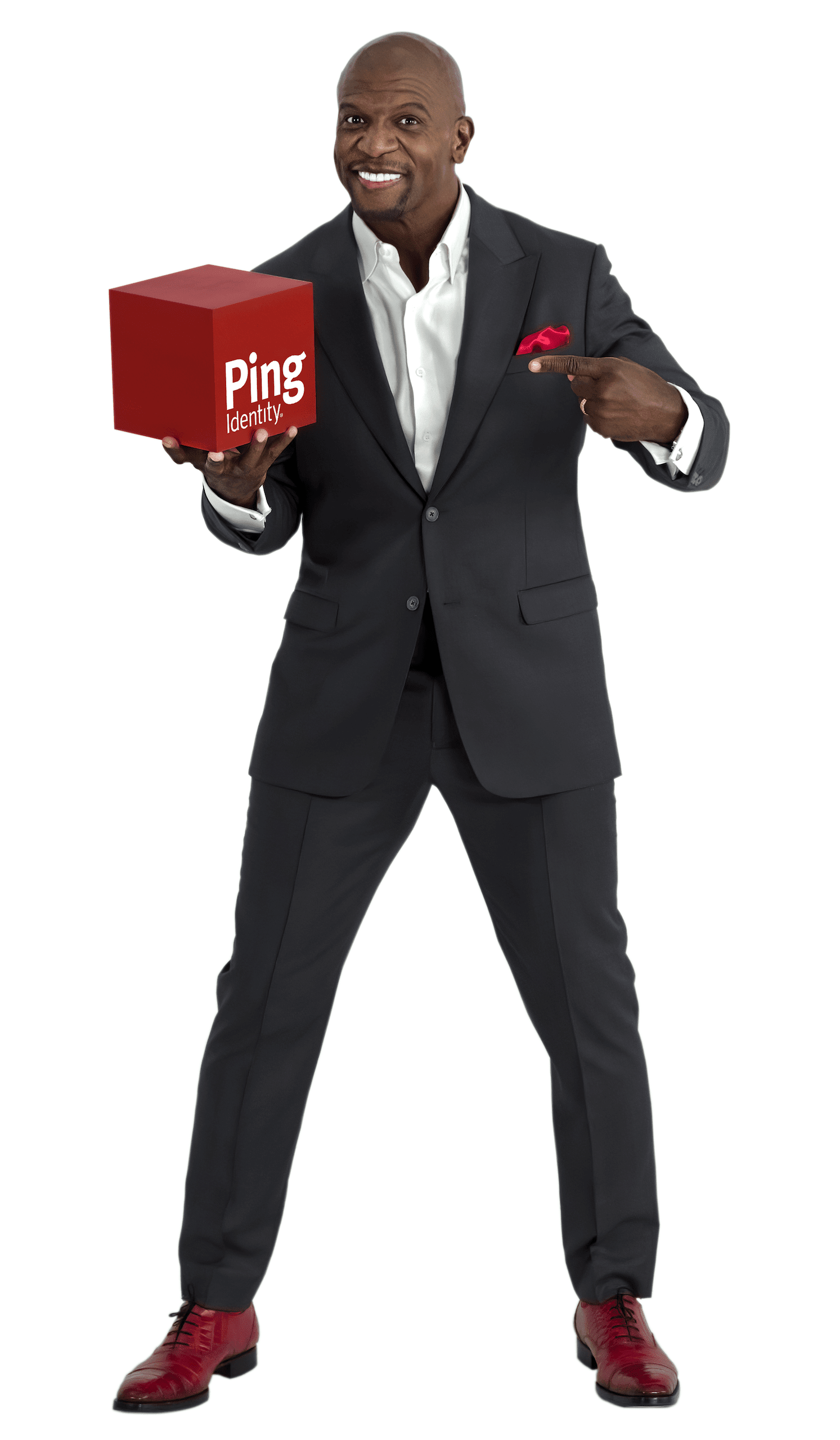 Terry Crews with Ping Identity box