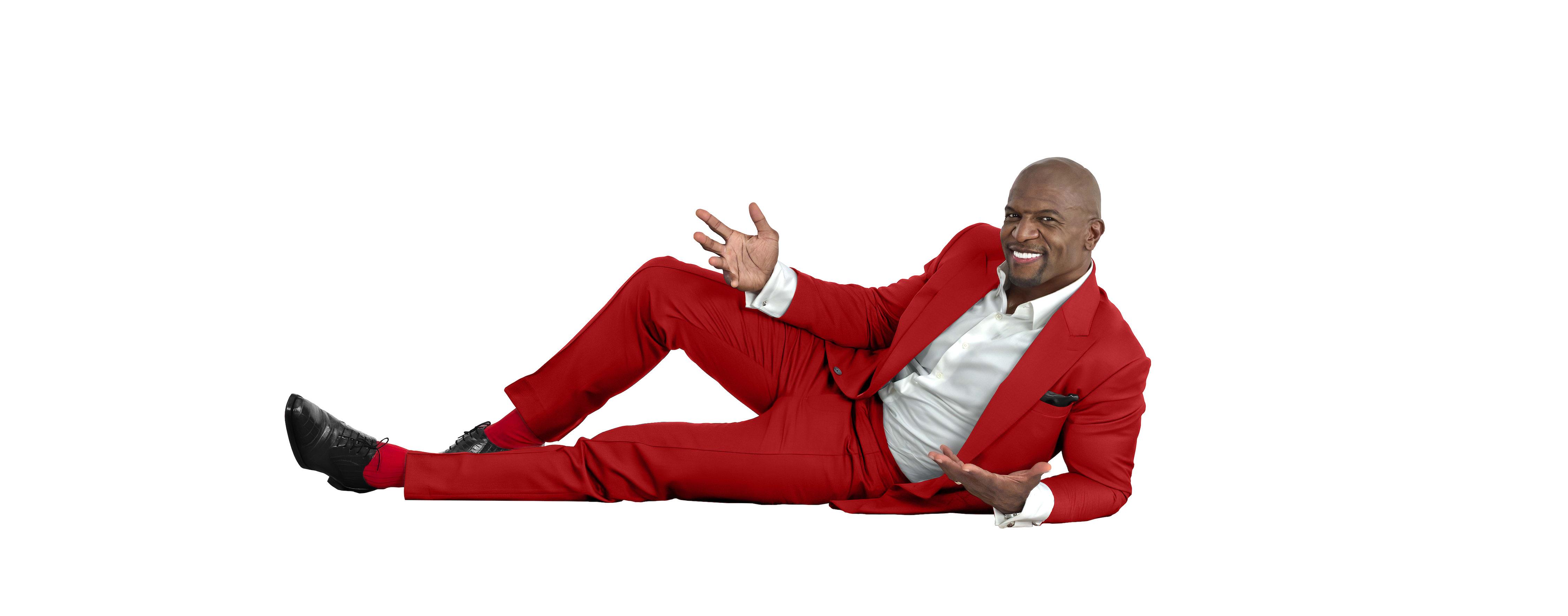 Terry Crews red suit