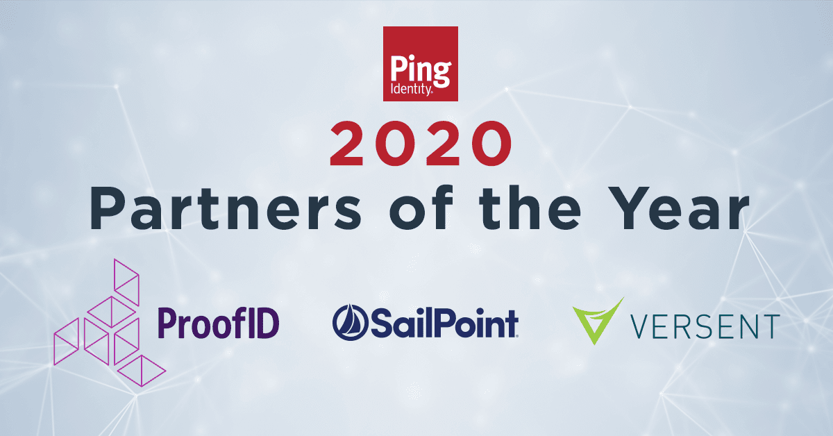 2020 Partners of the Year, ProofID, SailPoint, Versent
