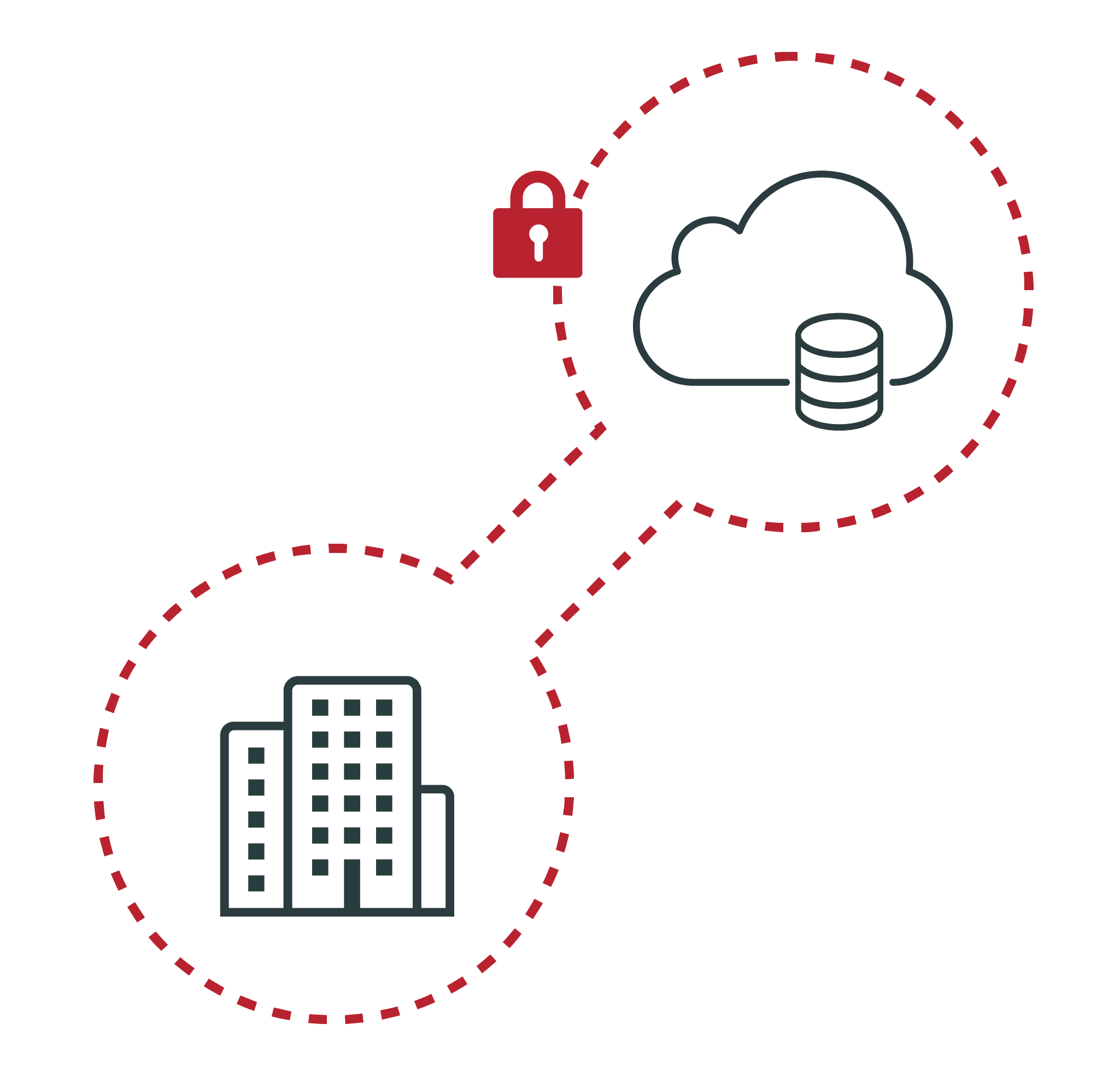 Cloud and building with lock