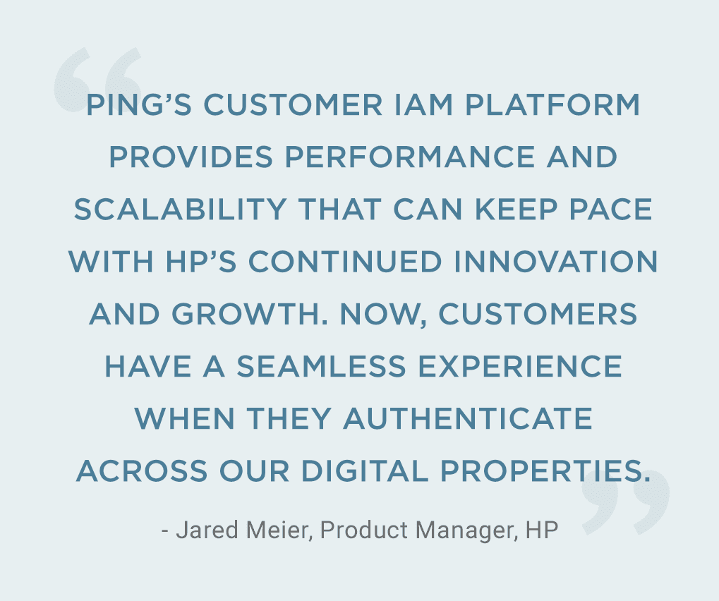 Quote from Jared Meier, Product Manager at HP