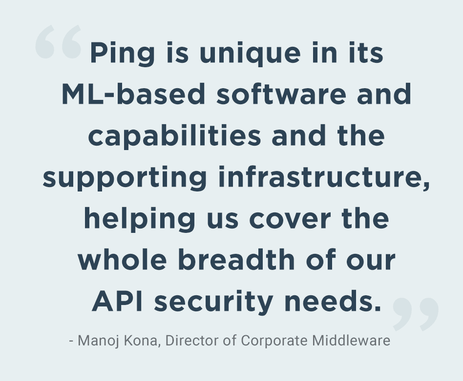 Quote from JManoj Kona, Director of Corporate Middleware