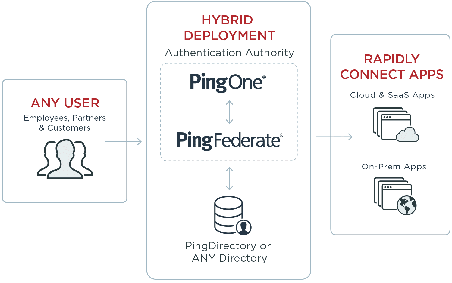 Any user can safely and rapidly connect to apps via hybrid development