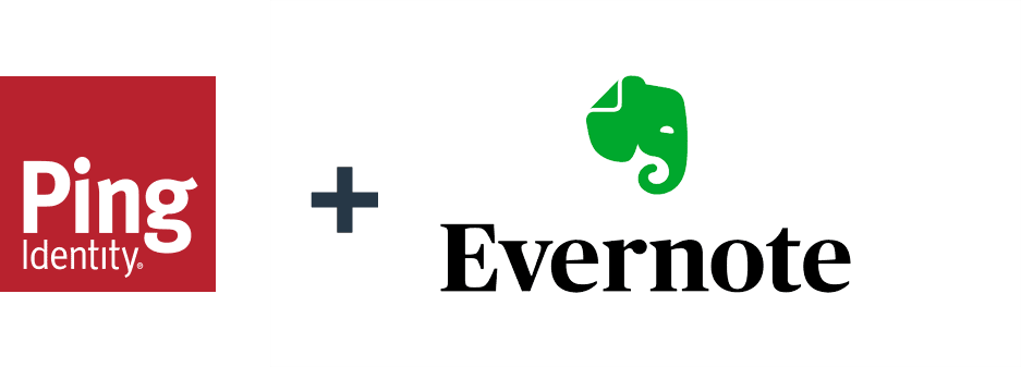 Ping Identity and Evernote logos