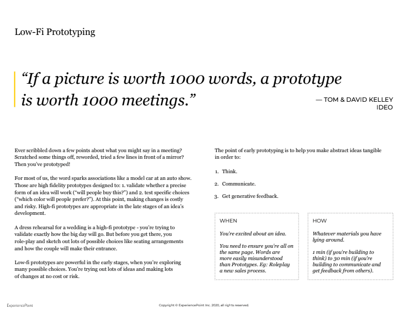 If a picture is worth a 1,000 words, a prototype is worth 1,000 meetings