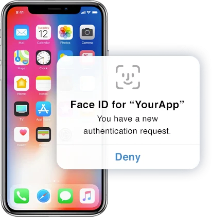 iPhone with Face ID