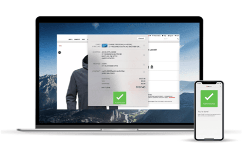 laptop and mobile phone authentication screens